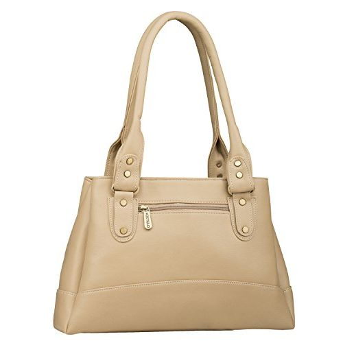 Fostelo Women's Elite Handbag (Beige) (FSB-161)