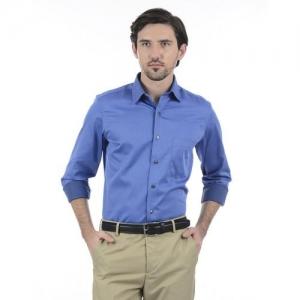 Arrow Men Solid Formal Blue Shirt