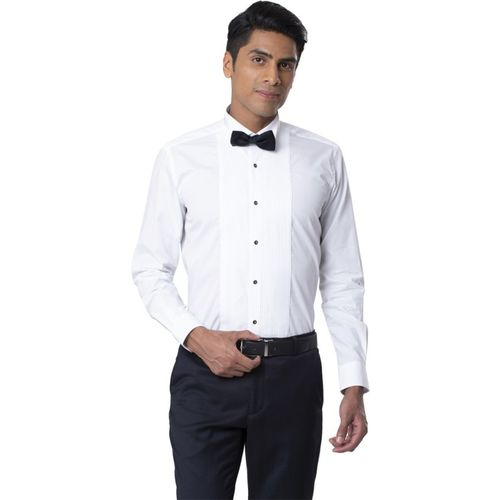 Raymond Men Solid Casual White Shirt