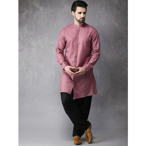 Anouk Men Solid Straight Kurta(Pink)