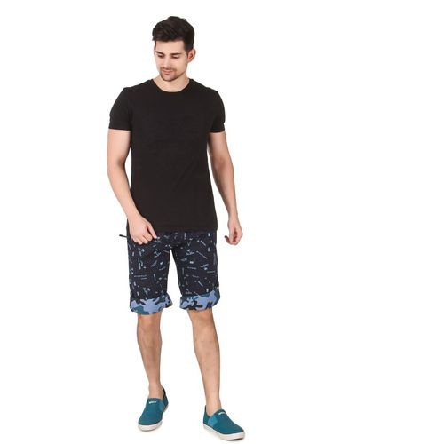INDIQUE Printed Men Three Fourths Shorts
