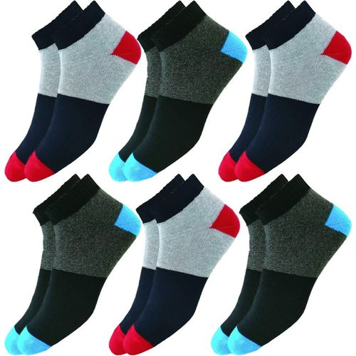 hicode Men & Women Self Design Ankle Length(Pack of 6)