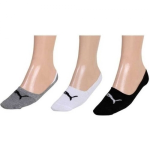 Puma Men & Women Solid Peds/Footie/No-Show(Pack of 3)
