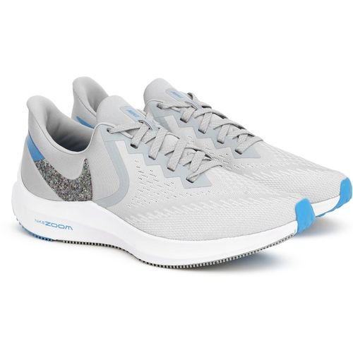 Nike ZOOM WINFLO 6 Running Shoes For Men(Grey)