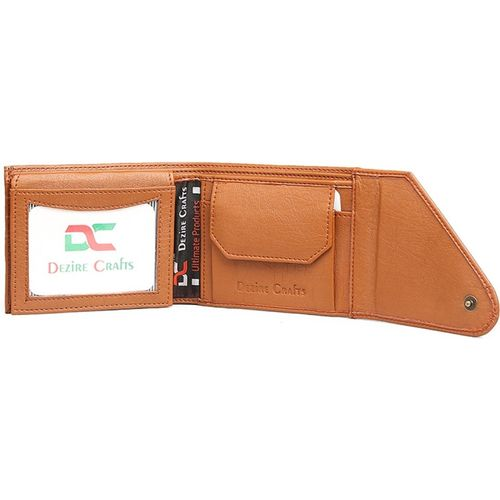 Dezire Crafts Men Formal, Casual Tan Artificial Leather Wallet(8 Card Slots)