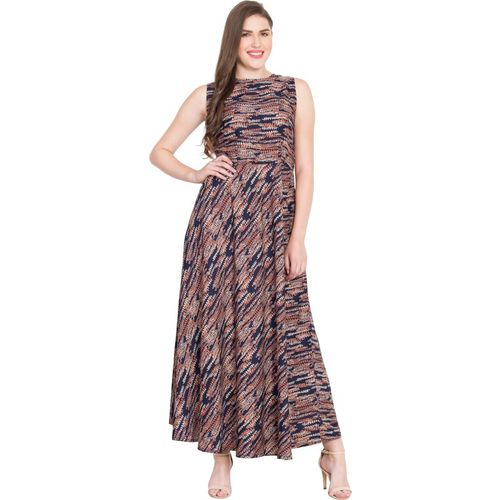 Rudraaksha Women Fit and Flare Multicolor Dress
