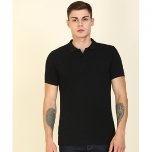 United Colors of Benetton Black Cotton Solid Slim Fit Casual T-Shirts