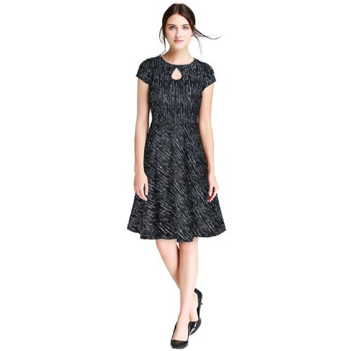 Kkanchi Overseas Women Fit and Flare Black Dress
