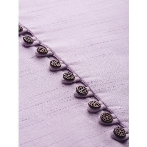 Anouk Men Purple Solid Straight Kurta