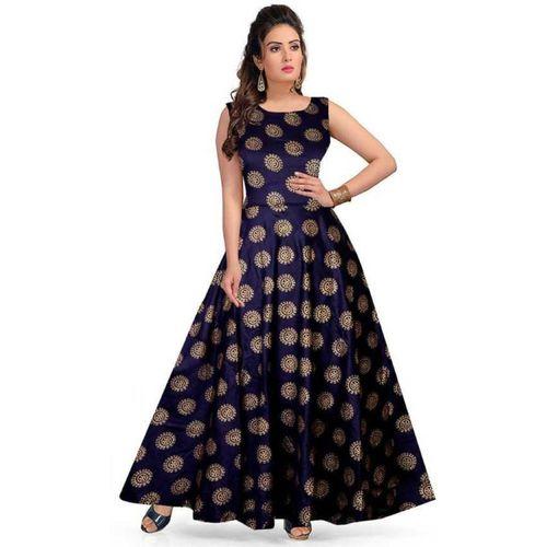 Dev Fashion Women Maxi Blue Dress