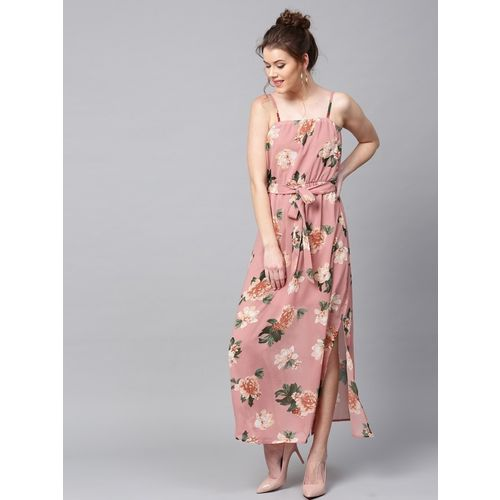 Sassafras Women Maxi Green, Pink Dress