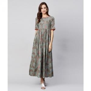 Nayo Women Maxi Green Dress