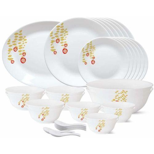 Borosil Pack of 33 Opalware Pabbles Dinner Set(Microwave Safe)