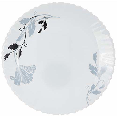 Borosil Fluted Millenia Dinner Set, 14-Pieces, White