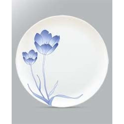 Borosil Larah Tulip Moon Opalware, Glass Dinner Set (Standard size, White) - Pack of 33-Piece