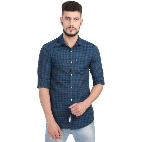 Asian & Fitch Men Checkered Casual Multicolor Shirt