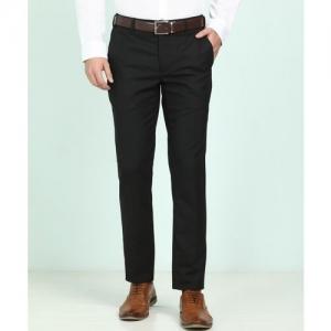 Raymond Slim Fit Men Black Trousers