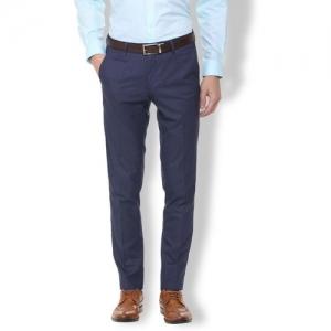 Van Heusen Slim Fit Men Blue Trousers