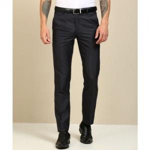 Peter England Slim Fit Men Dark Blue Trousers