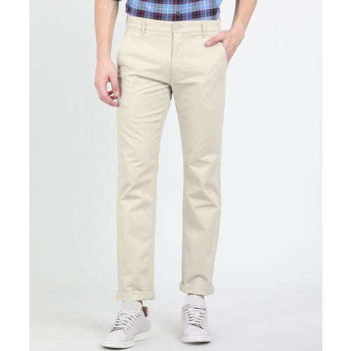 Levi's Slim Fit Men Cream Trousers