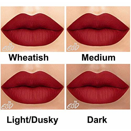 EOD Elite Collection Long Lasting Waterproof 100% Vegan Made in India Matte Liquid Lipstick Combo of 2 Lip Gloss(Dark Pink, Blood Red)