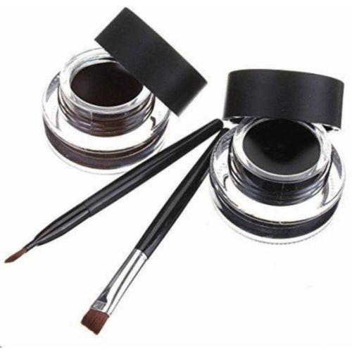 B W ALL BLACK music 2 in1 black gel eyeliner & flower eyebrow 8 ml (black brown) 6 ml(black)