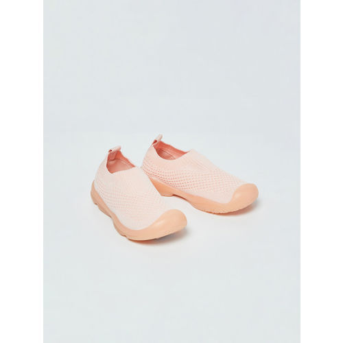 Fame Forever by Lifestyle Girls Peach-Coloured Slip-On Sneakers