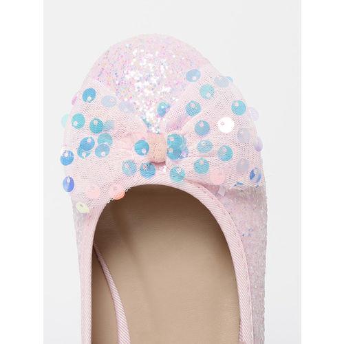 Fame Forever by Lifestyle Girls Pink Embellished Ballerinas
