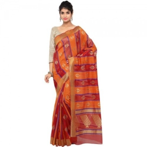 Bhelpuri Self Design Fashion Cotton Blend Saree(Multicolor)