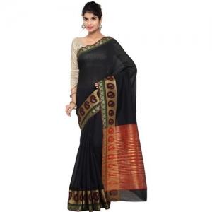 Bhelpuri Self Design Chanderi Cotton Blend Saree(Multicolor)