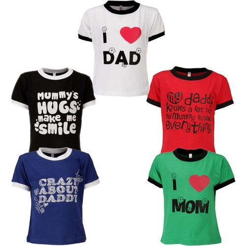 Gkidz Boys Printed Cotton Blend T Shirt(Multicolor, Pack of 5)