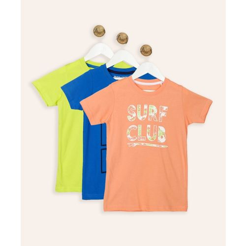 Miss & Chief Boys Printed Cotton Blend T Shirt(Multicolor, Pack of 3)