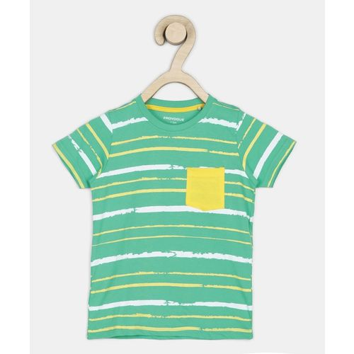 Provogue Boys Printed Cotton Blend T Shirt(Multicolor, Pack of 1)