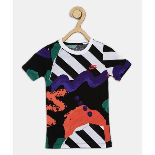 Nike Boy's Self Design Pure Cotton T Shirt(Multicolor, Pack of 1)