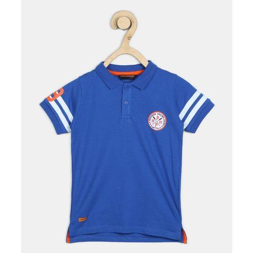 Provogue Boys Solid Cotton Blend T Shirt(Blue, Pack of 1)