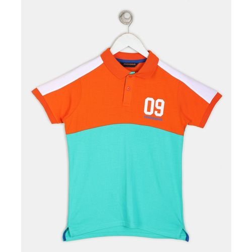 Provogue Boys Solid Pure Cotton T Shirt(Green, Pack of 1)
