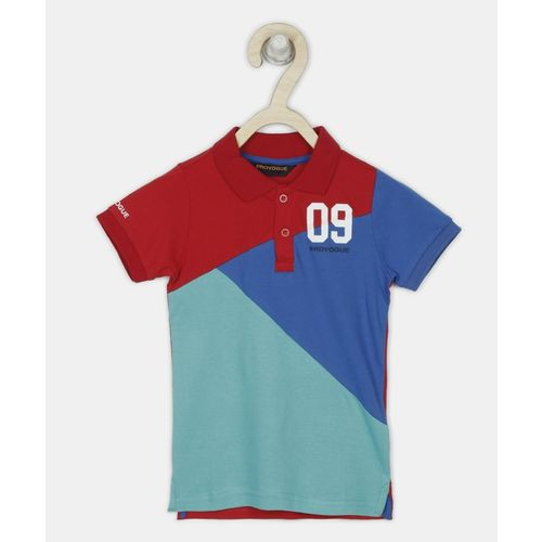 Provogue Boys Solid Cotton Blend T Shirt(Multicolor, Pack of 1)