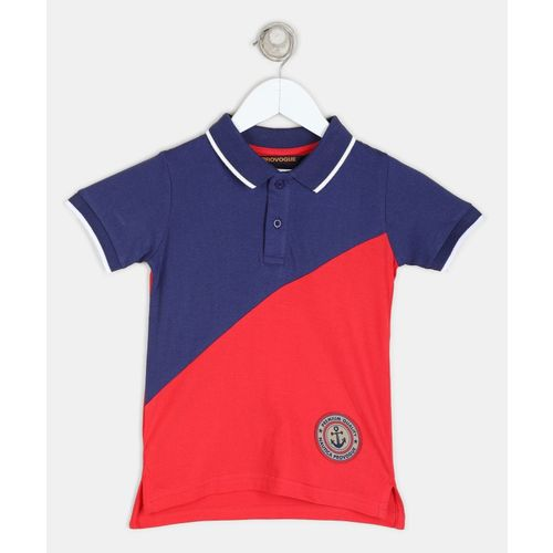 Provogue Boys Solid Pure Cotton T Shirt(Multicolor, Pack of 1)