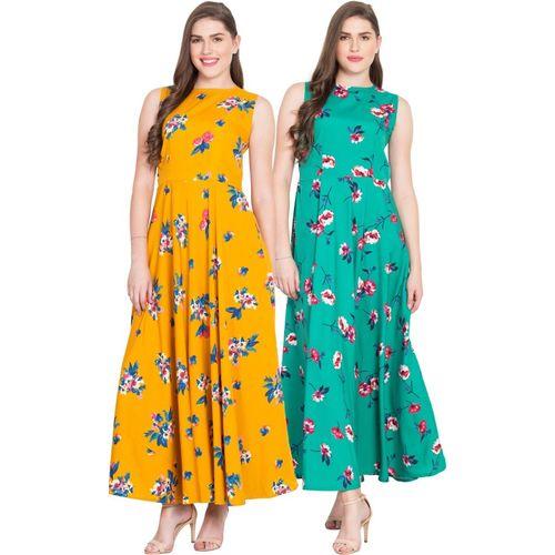 Rudraaksha Women Gown Multicolor Dress