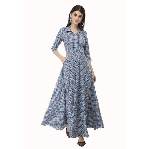 Rudraaksha Women Gown Blue Dress