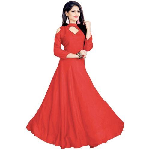 REYANS Women Gown Red Dress