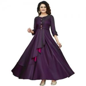 DD's creation Women Gown Purple Dress