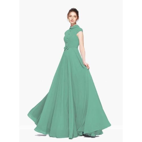 Veehaus Women Gown Light Green Dress