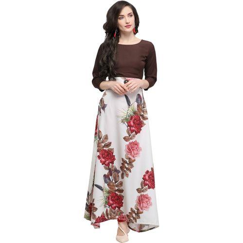 Archi Enterprise Women Gown Brown Dress