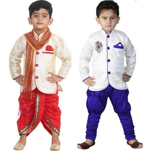 FTC FASHIONS Boys Festive & Party Dhoti & Kurta Set(Multicolor Pack of 2)