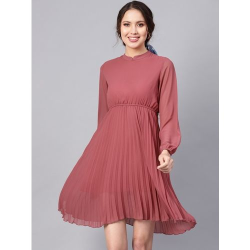 Sassafras Women Skater Pink Dress