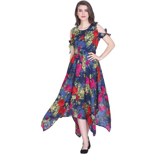 Meet Nex Women Asymmetric Multicolor Dress
