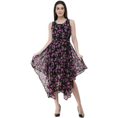 Absorbing Women Asymmetric Black Dress