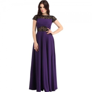 Raas Pret Women Empire Waist Purple Dress