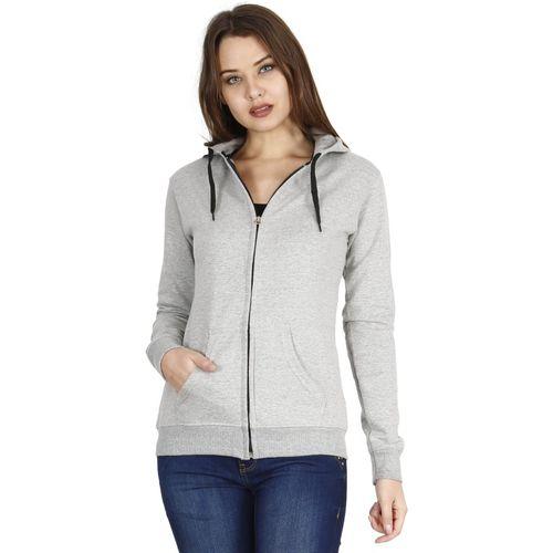FLEXIMAA Full Sleeve Solid Women Sweatshirt